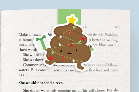 Holiday Poop Christmas Tree Magnetic Bookmark (Jumbo)