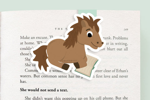 Horse Magnetic Bookmark (Jumbo)