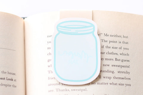 Mason Jar Magnetic Bookmark (Jumbo)