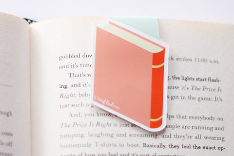 Bookish Glasses (Pink) Magnetic Bookmark (Jumbo)