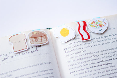 Breakfast Magnetic Bookmarks (Mini 5 pack)