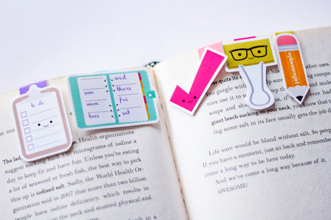 The Reset Girl Planner Magnetic Bookmarks (Mini 5 pack)