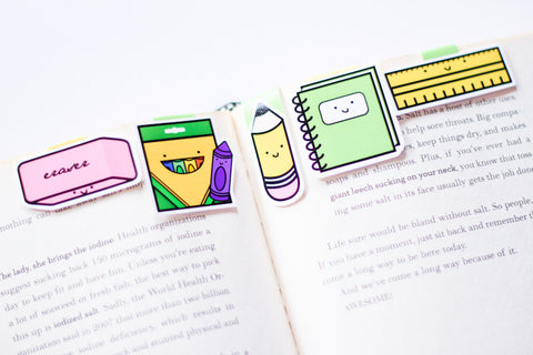 School Magnetic Bookmarks (Mini 5 pack)