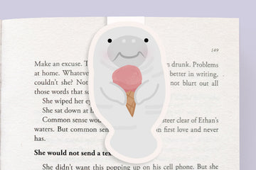 Manatee + Ice Cream Magnetic Bookmark (Jumbo)