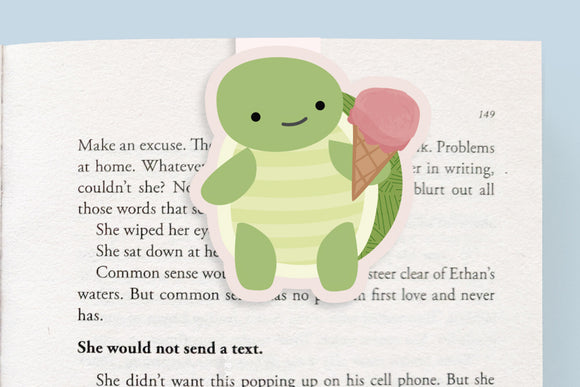 Turtle + Ice Cream Magnetic Bookmark (Jumbo)