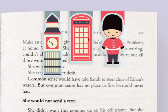 London Mini Magnetic Bookmarks (Pack of 3)