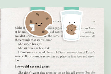 Milk and Cookie Magnetic Bookmarks (Mini 2 Pack)