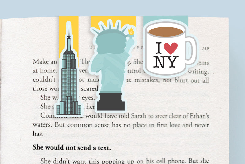New York Magnetic Bookmarks (Mini 3 Pack)