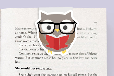Owl Magnetic Bookmark (Jumbo)