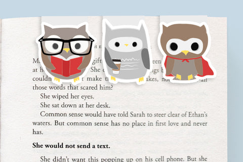 Owl Mini Magnetic Bookmarks (Mini 3 Pack)