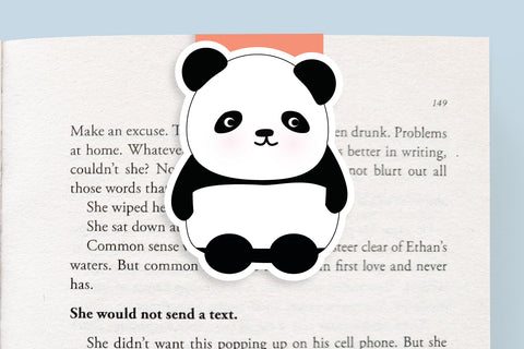 Panda Magnetic Bookmark (Jumbo)
