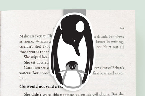 Penguin Magnetic Bookmark (Jumbo)