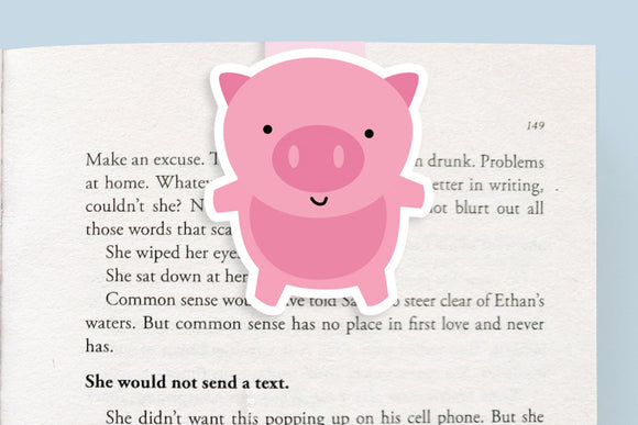 Pig Magnetic Bookmark (Jumbo)