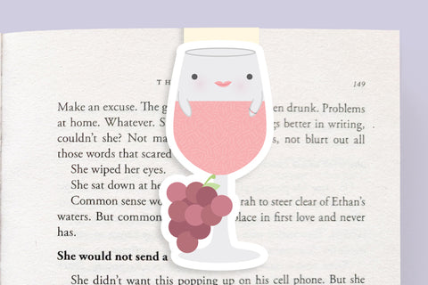 Rose Wine Magnetic Bookmark (Jumbo)