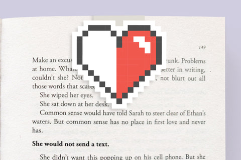 Pixel Heart Magnetic Bookmark (Jumbo)