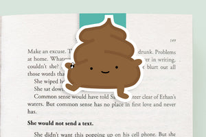Poop Magnetic Bookmark (Jumbo)