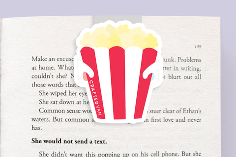 Popcorn Bucket Magnetic Bookmark (Jumbo)