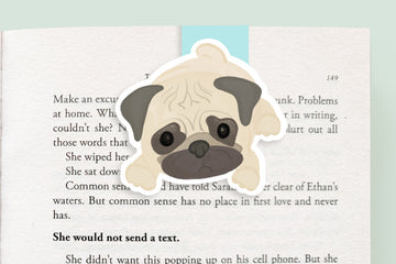 Pug Dog Magnetic Bookmark (Jumbo)