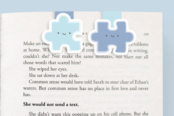 Puzzle Pieces Mini Magnetic Bookmarks (Mini 2 Pack)