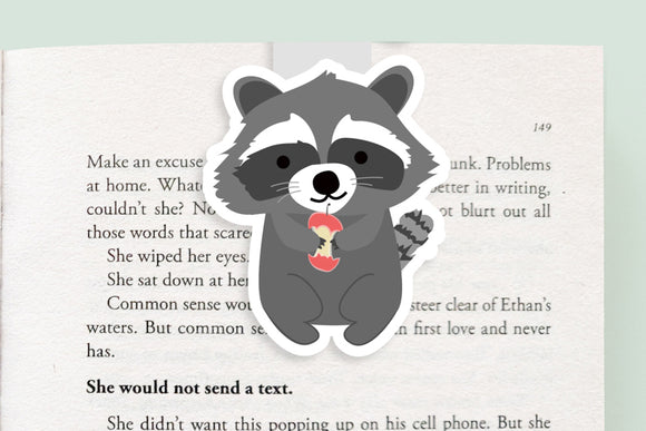 Raccoon Magnetic Bookmark (Jumbo)