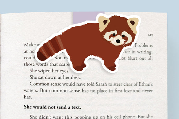 Red Panda Magnetic Bookmark (Jumbo)