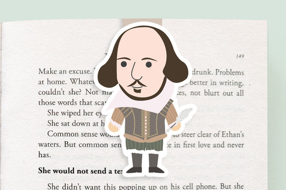 William Shakespeare Magnetic Bookmark (Jumbo)