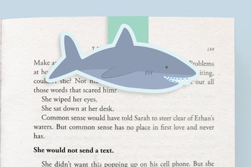 Shark With Braces Magnetic Bookmark (Jumbo)