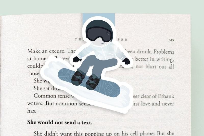 Snowboarder Magnetic Bookmark (Jumbo)