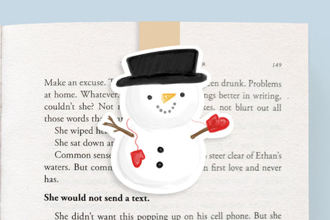 Snowman Magnetic Bookmark (Jumbo)