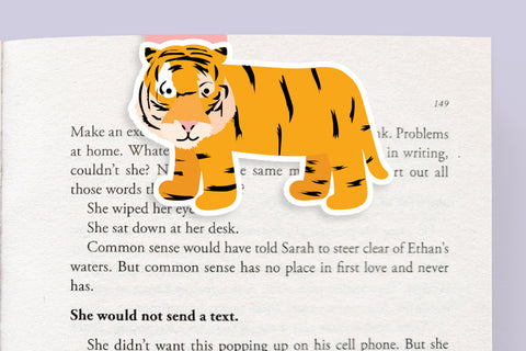 Tiger Magnetic Bookmark (Jumbo)