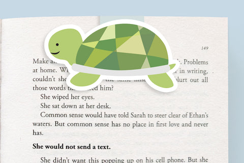 Turtle Magnetic Bookmark (Jumbo)