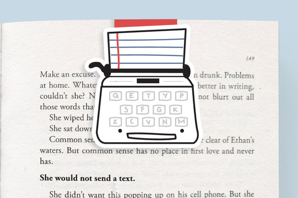 Typewriter Magnetic Bookmark (Jumbo)