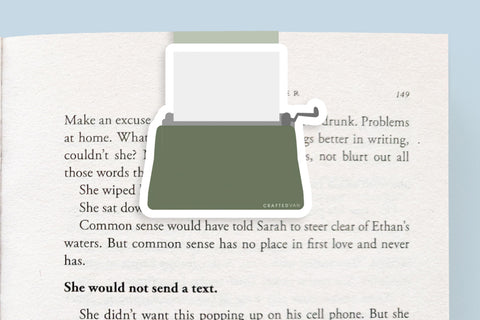 Typewriter (Green) Magnetic Bookmark (Jumbo)