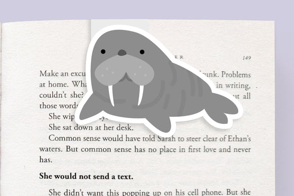 Walrus Magnetic Bookmark (Jumbo)