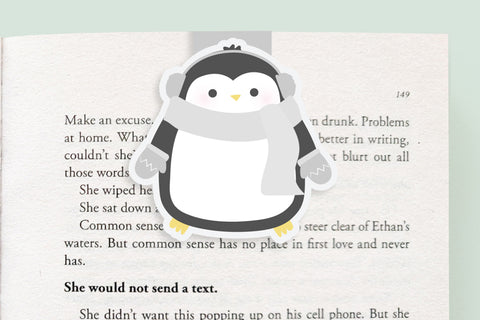 Warm Penguin Magnetic Bookmark (Jumbo)