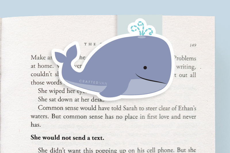 Whale Magnetic Bookmark (Jumbo)