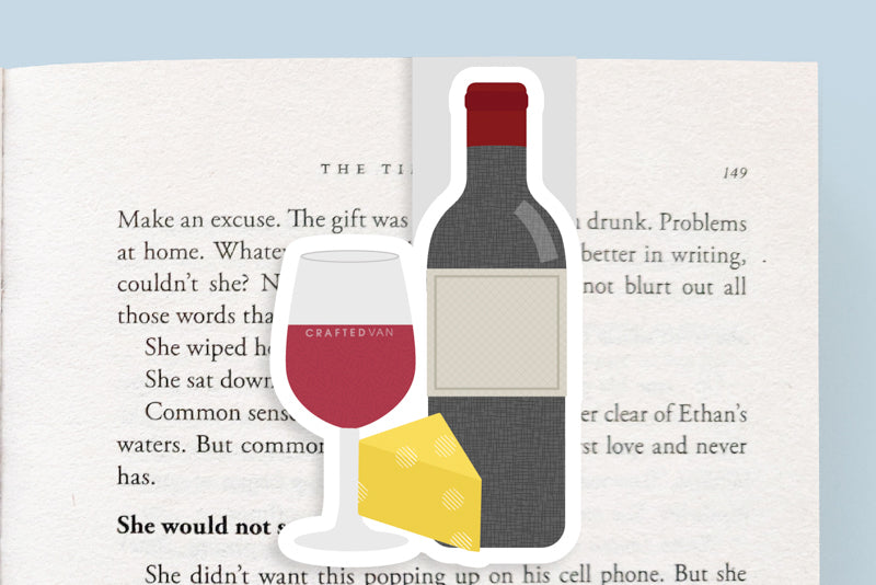 Red Wine Magnetic Bookmark (Jumbo)