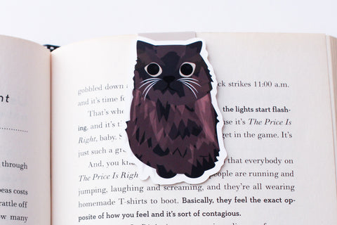 Black Persian Cat Magnetic Bookmark  (Jumbo)
