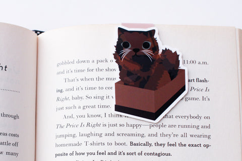 Somali Cat in a Box Magnetic Bookmark  (Jumbo)