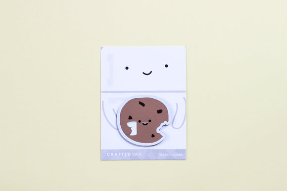 Cookie holding Milk Fridge Magnet