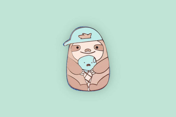 Sloth Enamel Pin