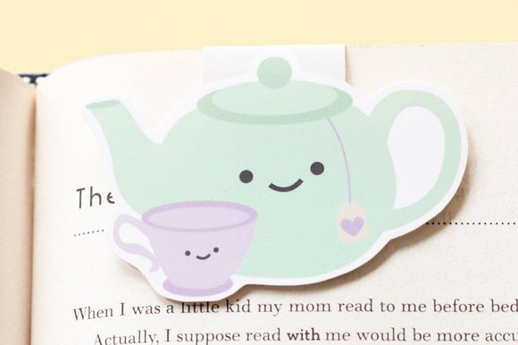 Mommy Teapot and Baby Teacup Magnetic Bookmark (Jumbo)