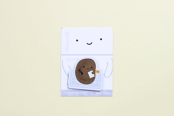 Couch Potato Fridge Magnet