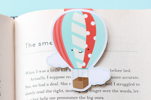 Hot Air Balloon Magnetic Bookmark (Jumbo)