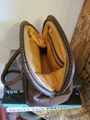 1960's Leather Dr. Bag