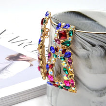 Load image into Gallery viewer, Colorful Crystals Dangle Earrings༄