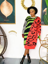 Load image into Gallery viewer, Jungle Fever Sweater Dress