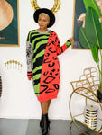 Jungle Fever Sweater Dress (Restocked) (4813568475171)