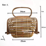 Foldable Bamboo tote (4427270520867)