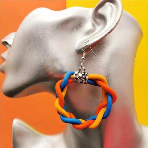 Bohemian Rubber Earrings (6538637246499)